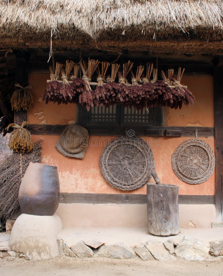 Maison coréenne traditionnelle photo libre de droits