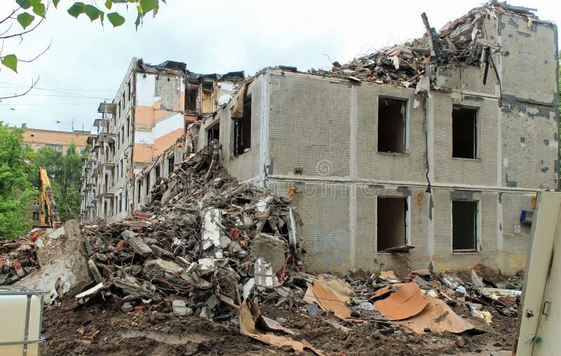 Maison démolie photographie stock