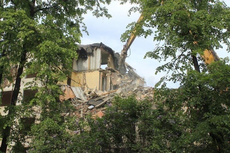 Maison démolie images stock