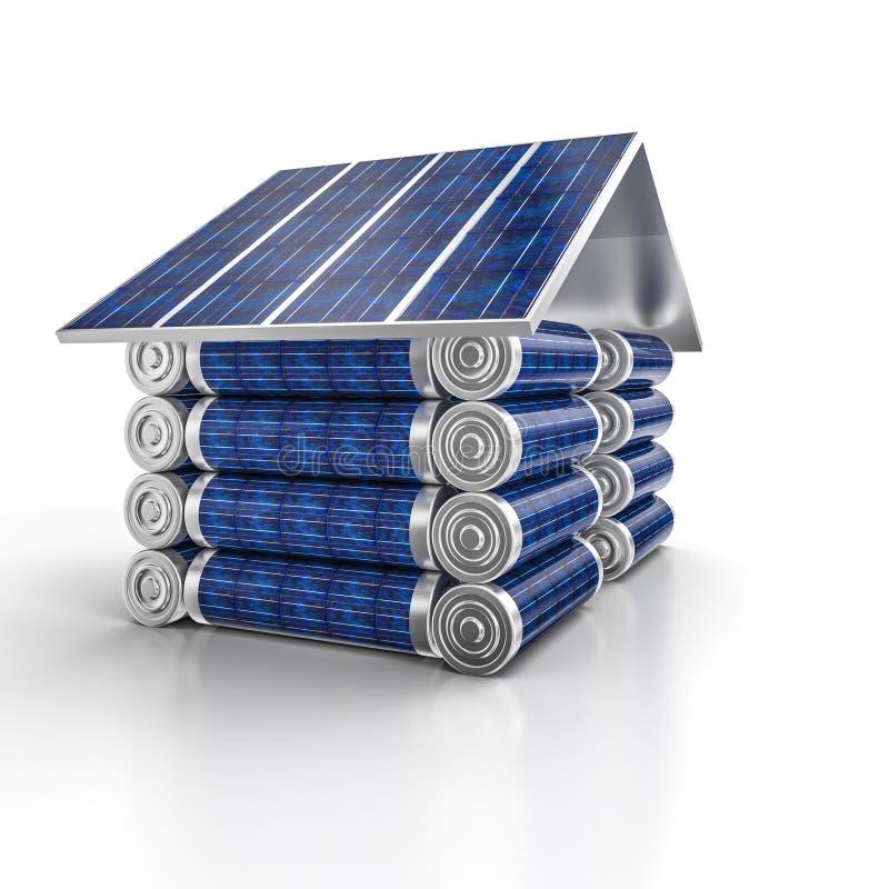 Maison d'énergie solaire illustration stock