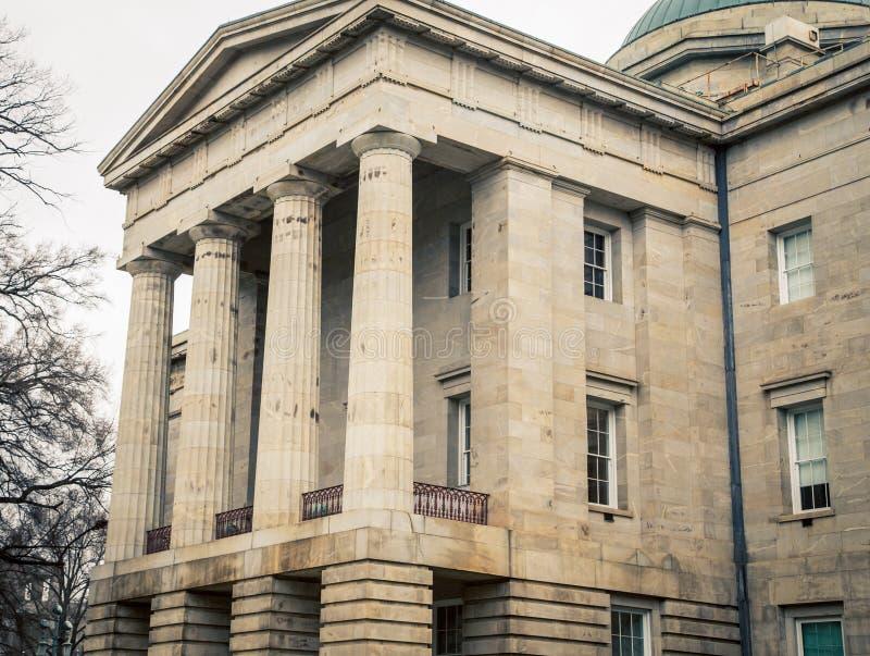 Maison d'état en Raleigh North Carolina images libres de droits