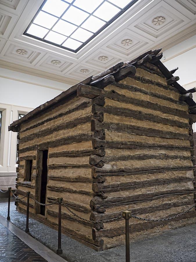 Maison d'Abraham Lincolns Log Cabin dans Bardstown Kentucky Etats-Unis photos libres de droits