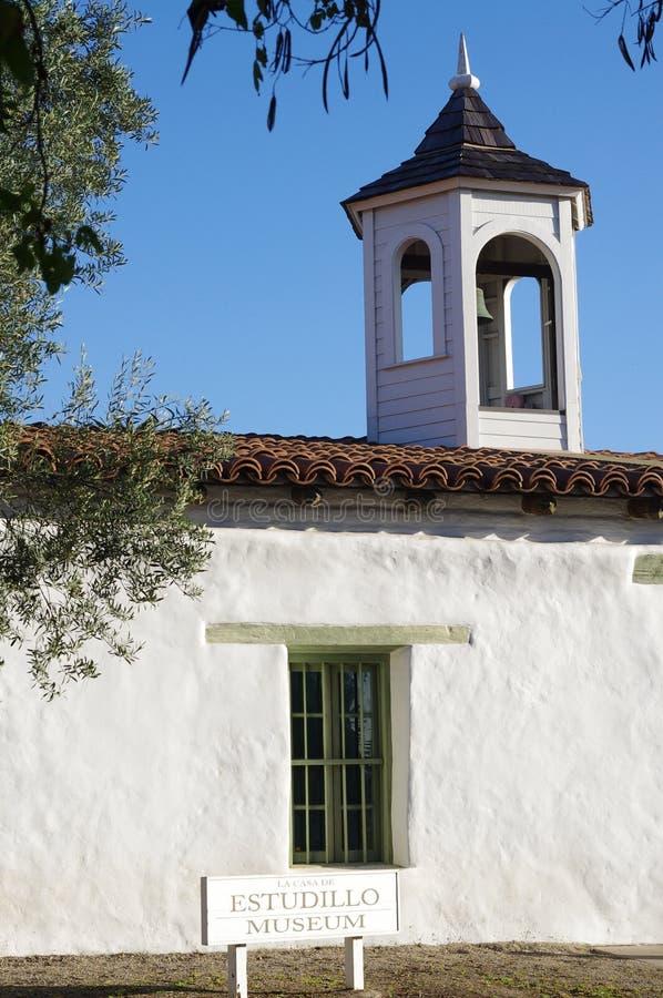 Maison d'Adobe Casa de Estudillo dans la vieille ville San Diego images libres de droits