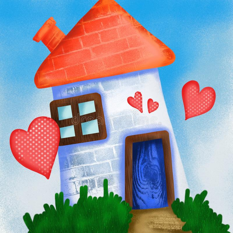 Maison d'amour illustration libre de droits