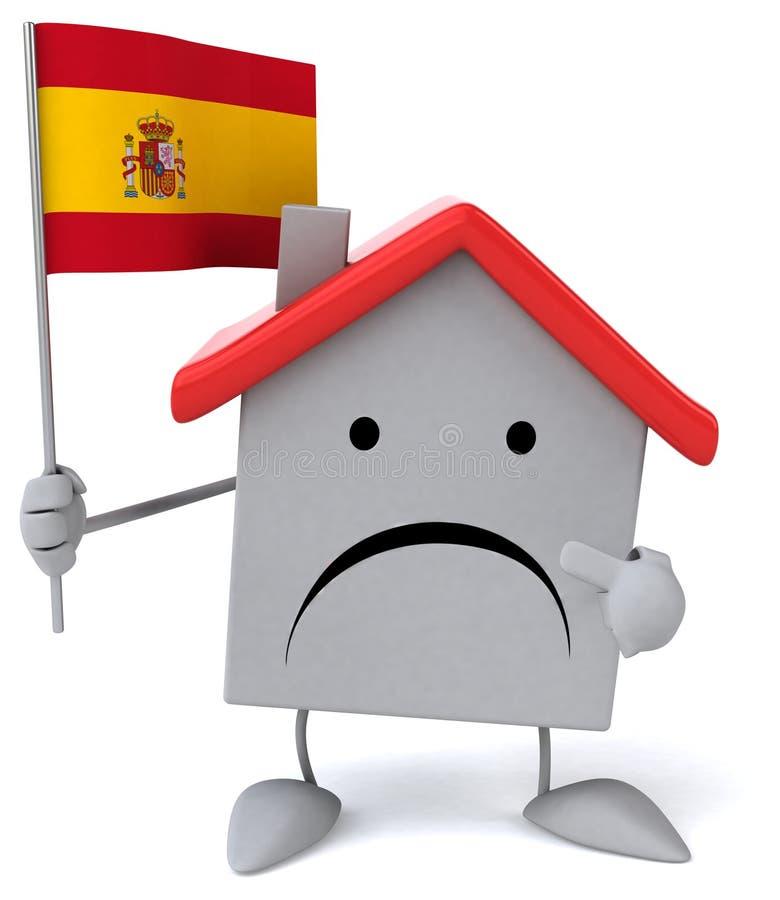 Download Maison d'amusement illustration stock. Illustration du espagnol - 56490917