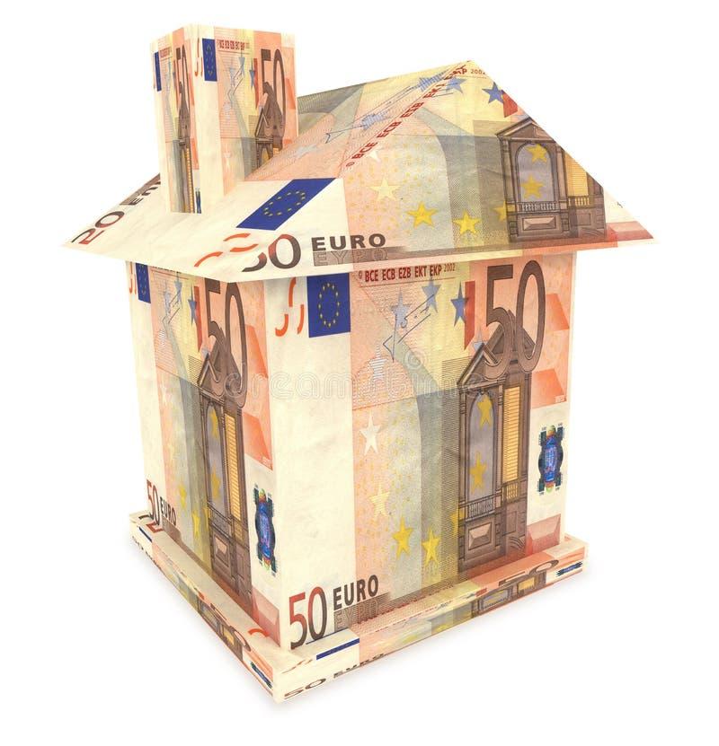 maison 3d de l'euro argent photo libre de droits