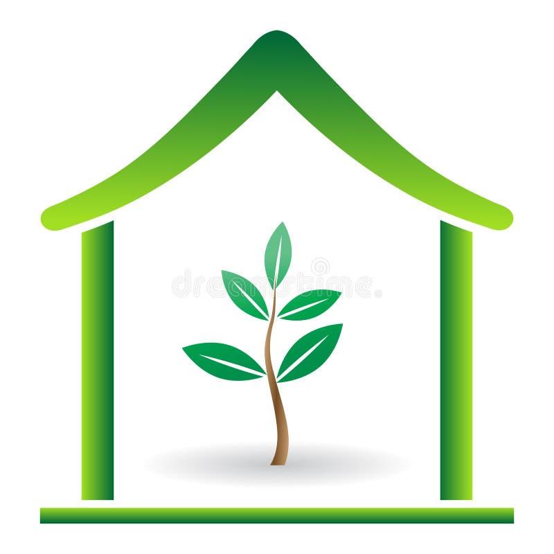 Maison d'Eco illustration de vecteur