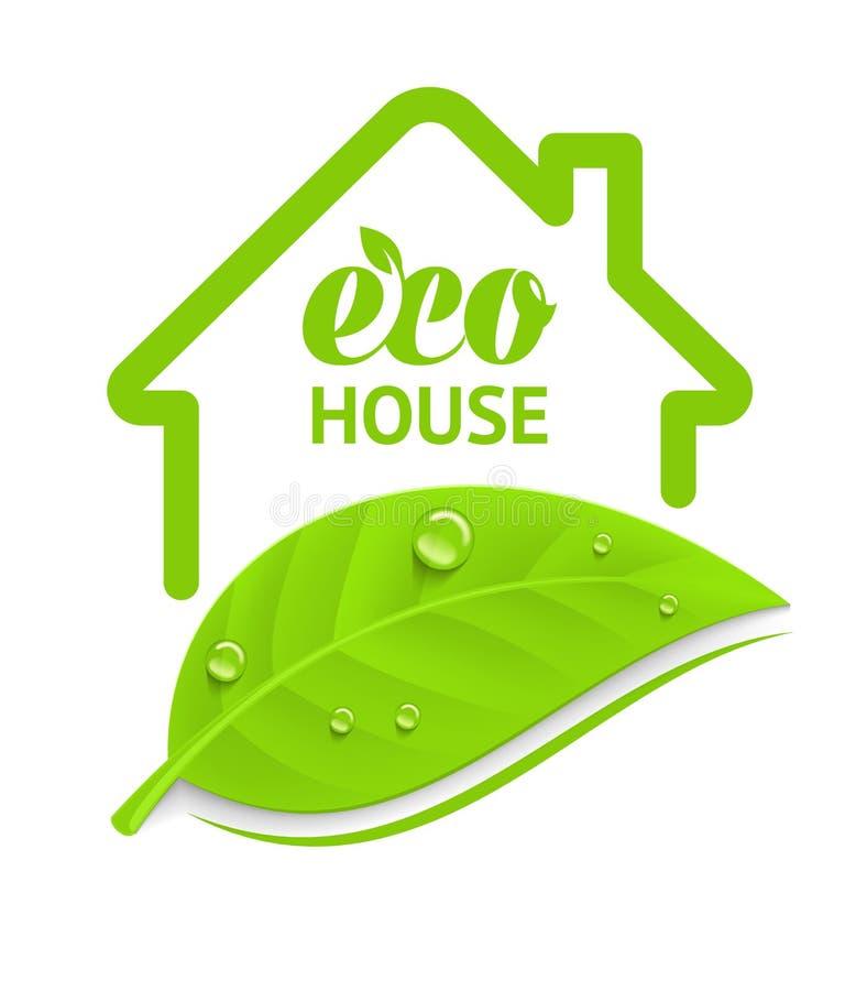 Maison d'eco de logo illustration libre de droits