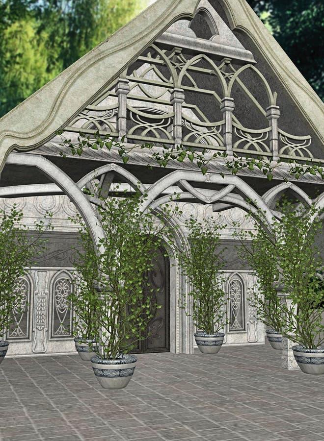 Maison d'Elven illustration de vecteur