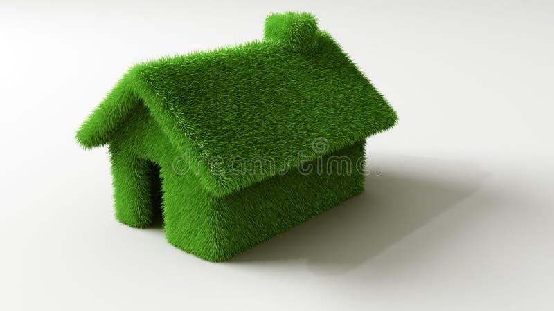 Maison d'herbe illustration de vecteur