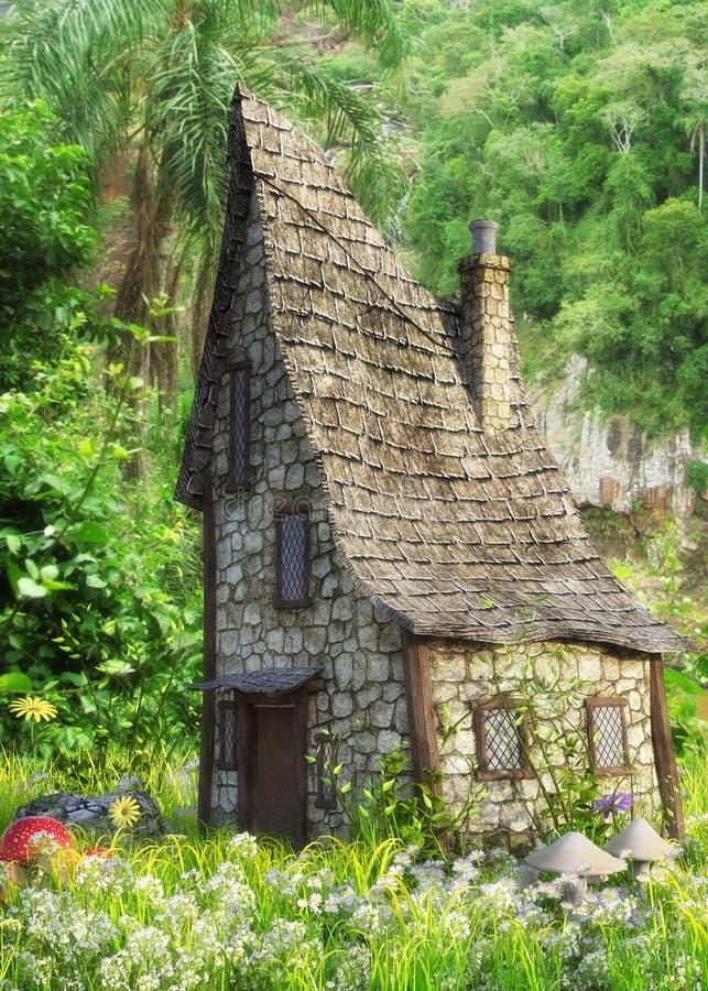 Maison d'imagination dans la forêt illustration stock