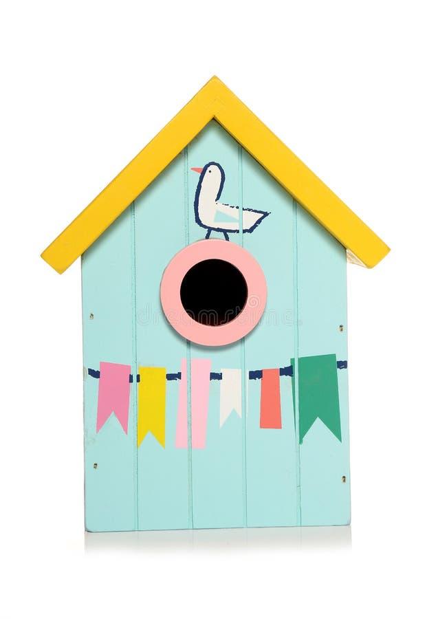 maison d'oiseau de hutte de plage images stock
