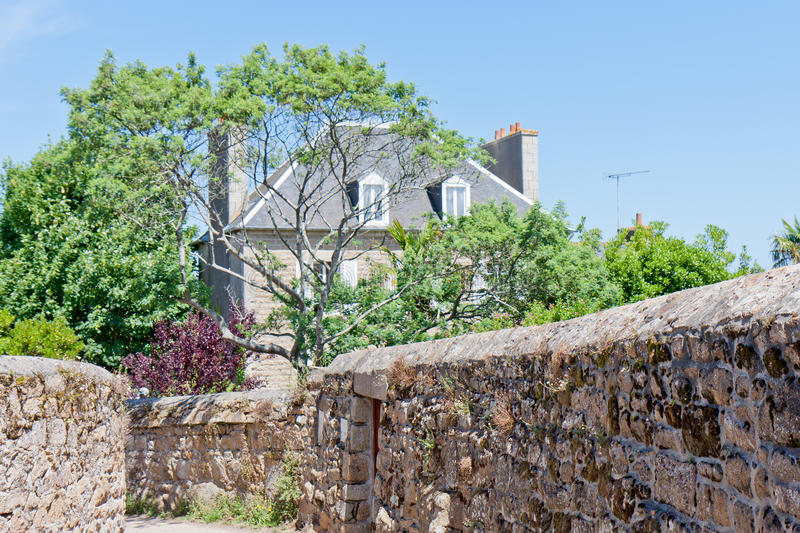 Maison dans Brittany, France images stock