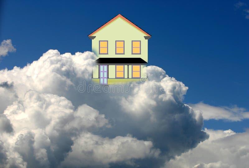 Maison dans le ciel illustration de vecteur