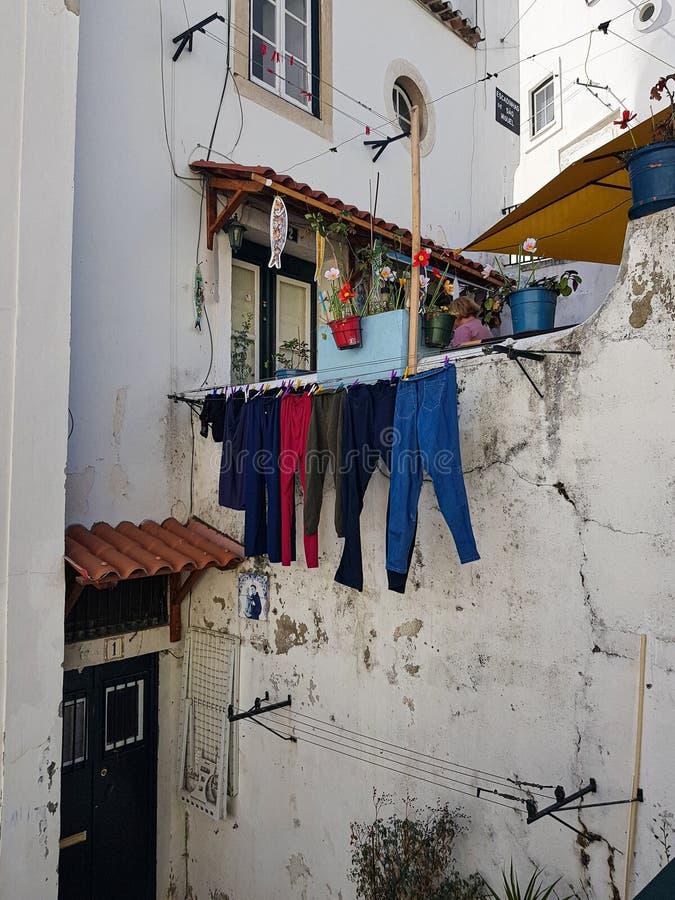 Maison dans le secteur d'Alfama photos libres de droits