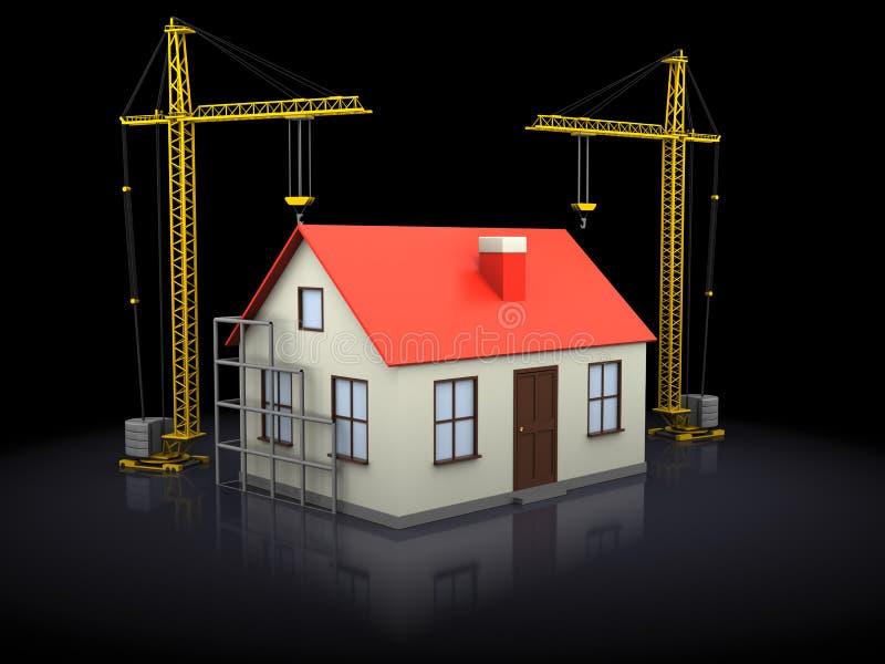 Maison de bâtiment illustration libre de droits
