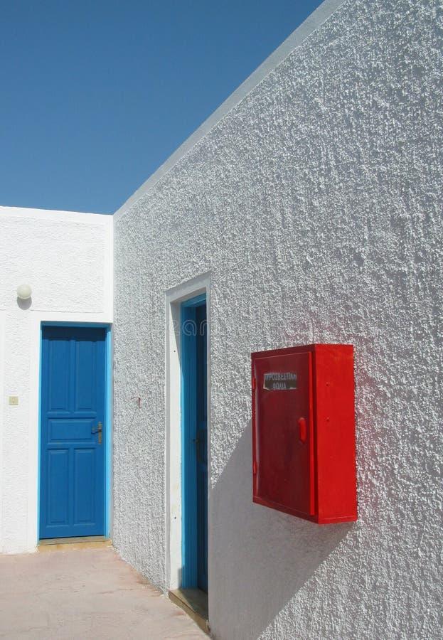 Maison de blanc de Santorini photo stock