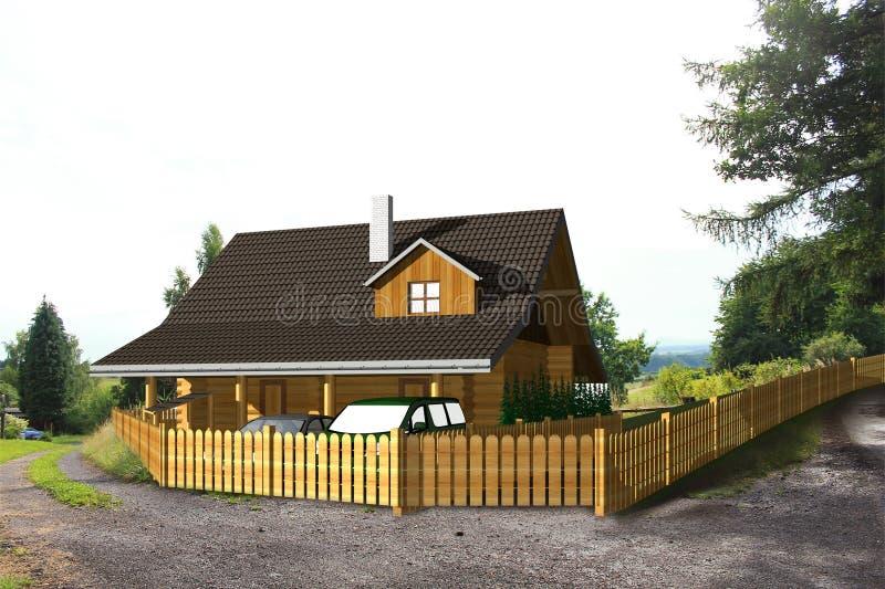 Maison de bois de construction photos libres de droits