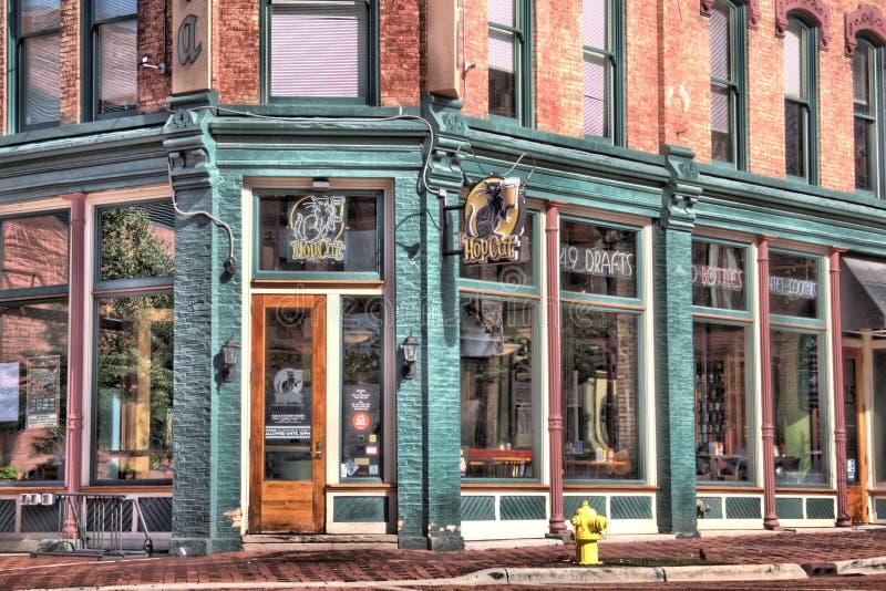 Maison de brasserie et de robinet de Hopcat photo libre de droits