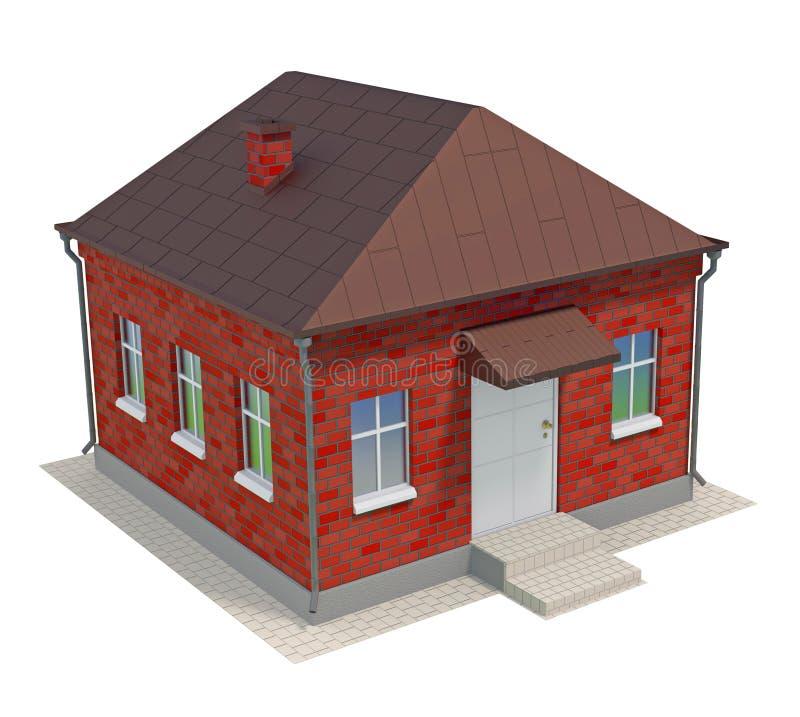 Maison de brique illustration libre de droits