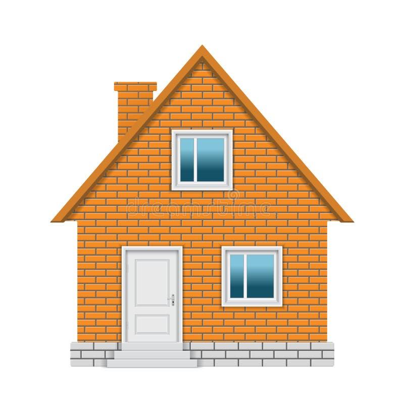 Maison de brique illustration de vecteur