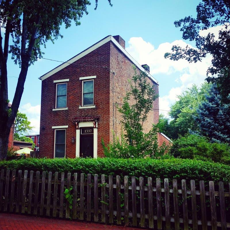 Maison de brique photo libre de droits