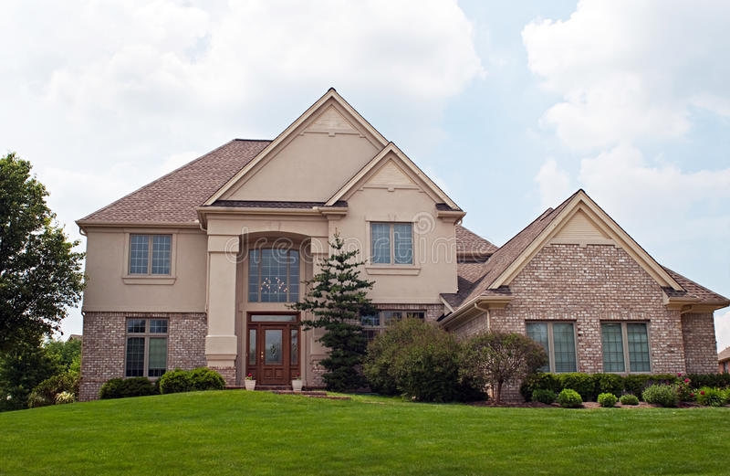 Maison de brique et de stuc image stock image 14536851 for Maison en stuc