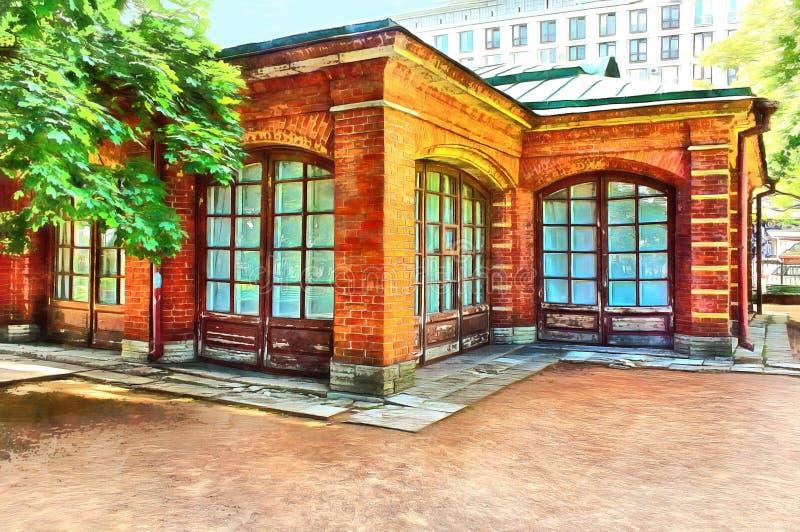 Maison de brique de tsar Peter le grand illustration libre de droits