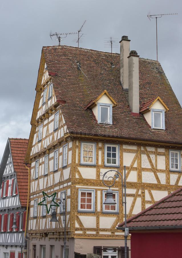 Maison de cadre - V - Waiblingen - l'Allemagne image stock