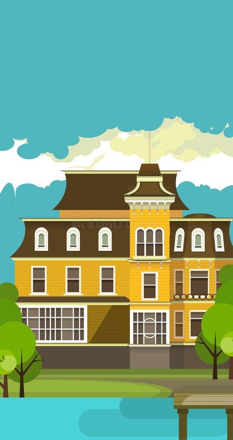 Maison de campagne illustration stock