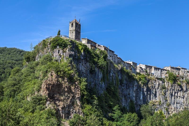 Maison de campagne Castellfollit de la Roca photo libre de droits