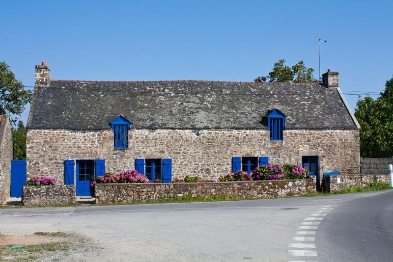 Maison de campagne dans Brittany France photographie stock libre de droits