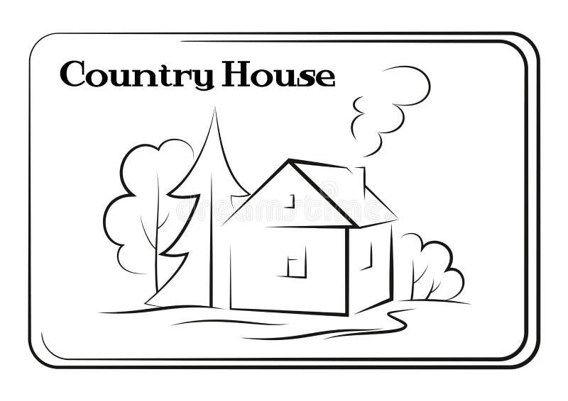 Maison de campagne, pictogramme illustration libre de droits