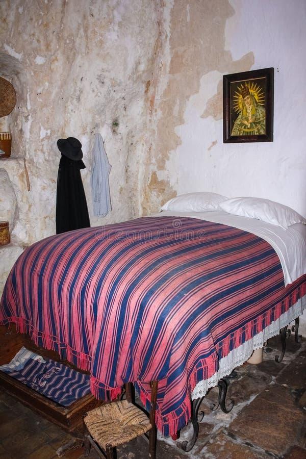 Maison de caverne Matera Basilicate Pouilles l'Italie photos libres de droits