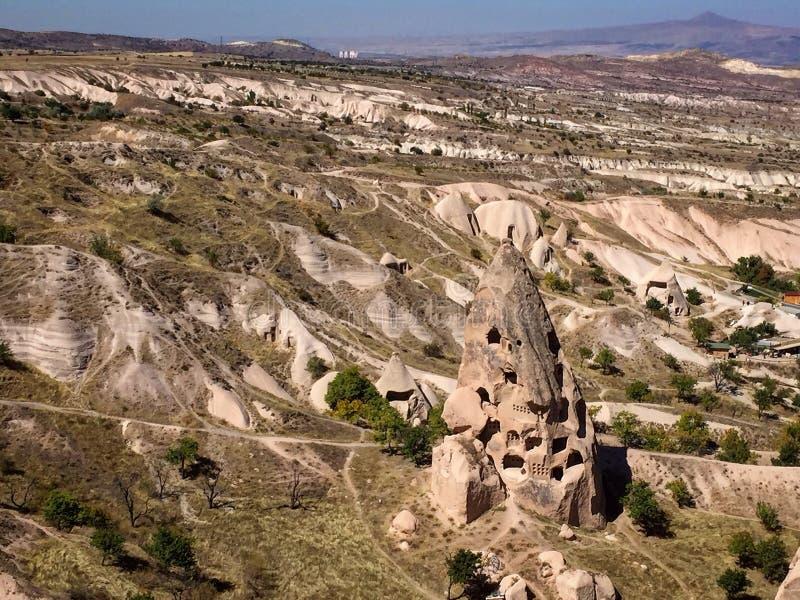 Maison de caverne, Uçhisar, Turquie photos libres de droits