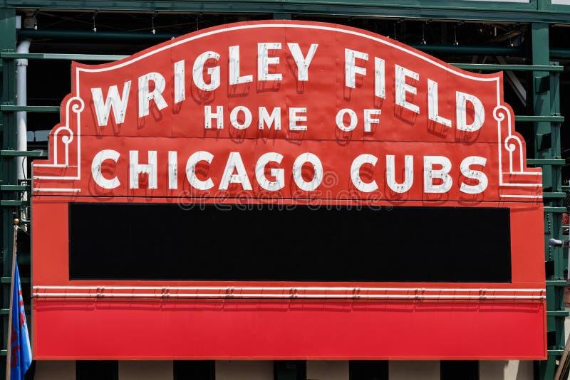 Maison de champ de Wrigley des Chicago Cubs avec l'espace I de copie image stock