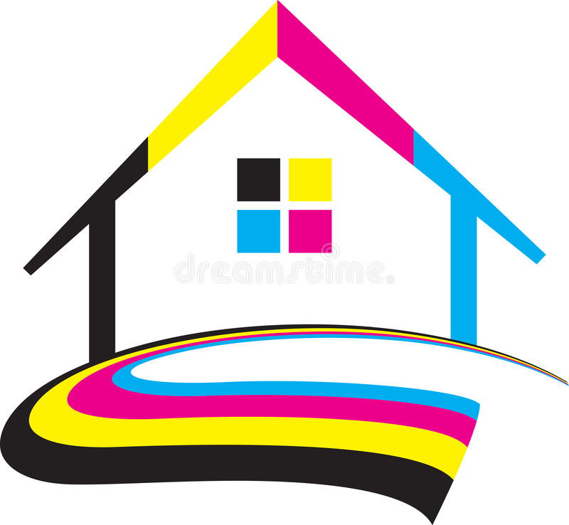 Maison de Cmyk illustration libre de droits