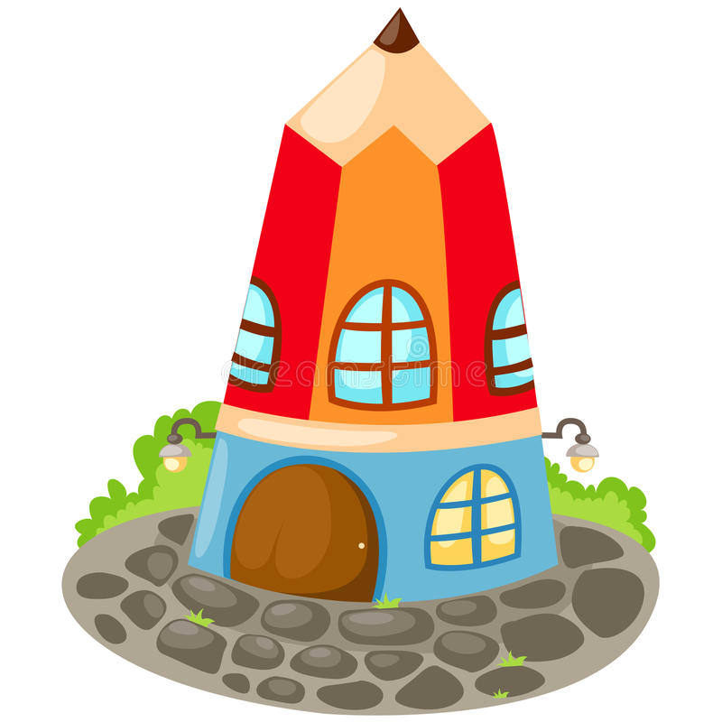 Maison de crayon illustration stock