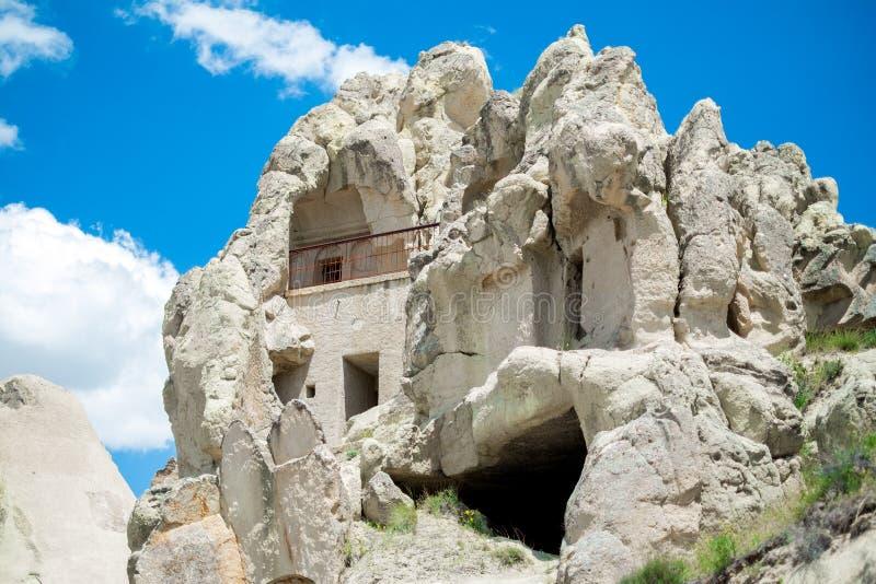 Maison de crique Vue de la ville dans Cappadocia photo stock