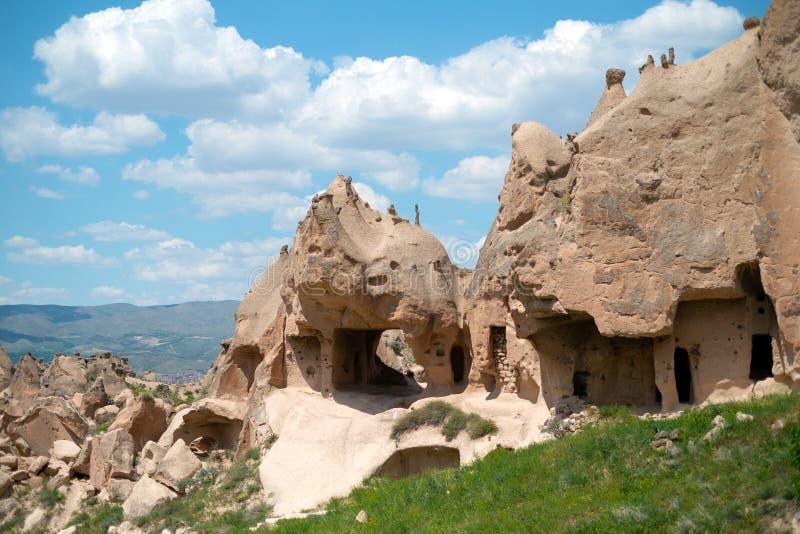 Maison de crique Vue de la ville dans Cappadocia photos stock