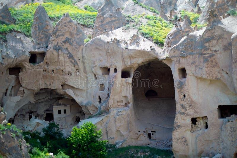 Maison de crique Vue de la ville dans Cappadocia photo libre de droits