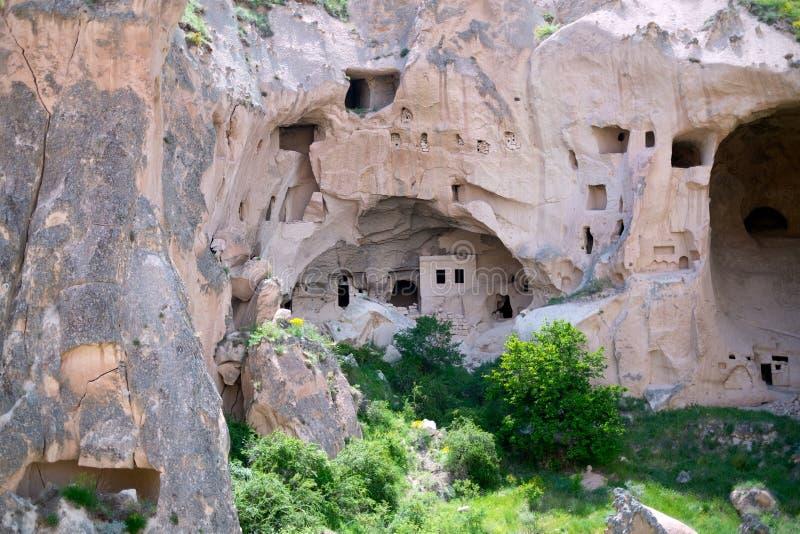 Maison de crique Vue de la ville dans Cappadocia photographie stock