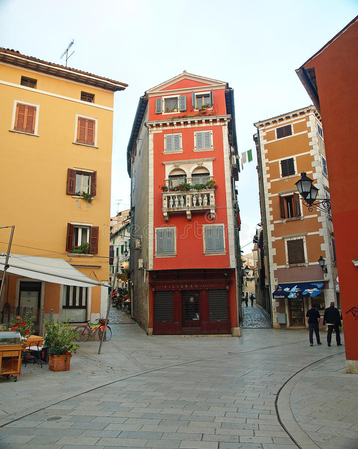 Maison de détail d'Italianate dans Rovinj images libres de droits