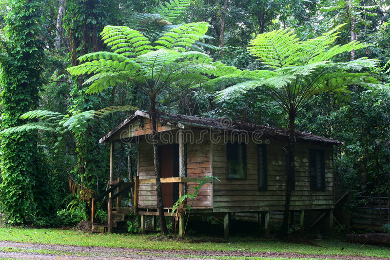 Maison de Daintree photo libre de droits