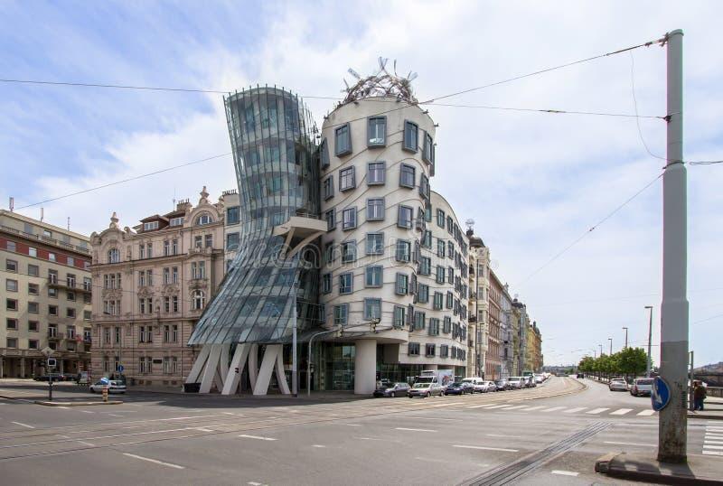 Maison de danse à Prague du centre, République Tchèque photos libres de droits