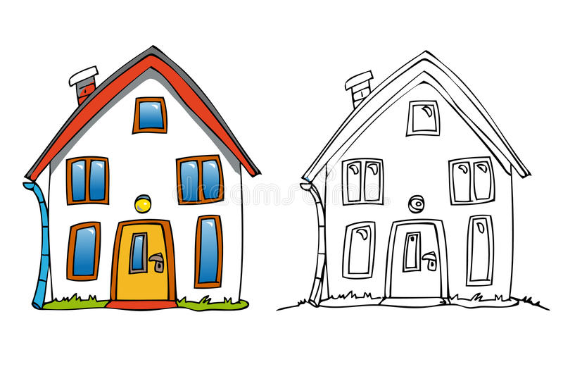 Maison de dessin animé illustration de vecteur