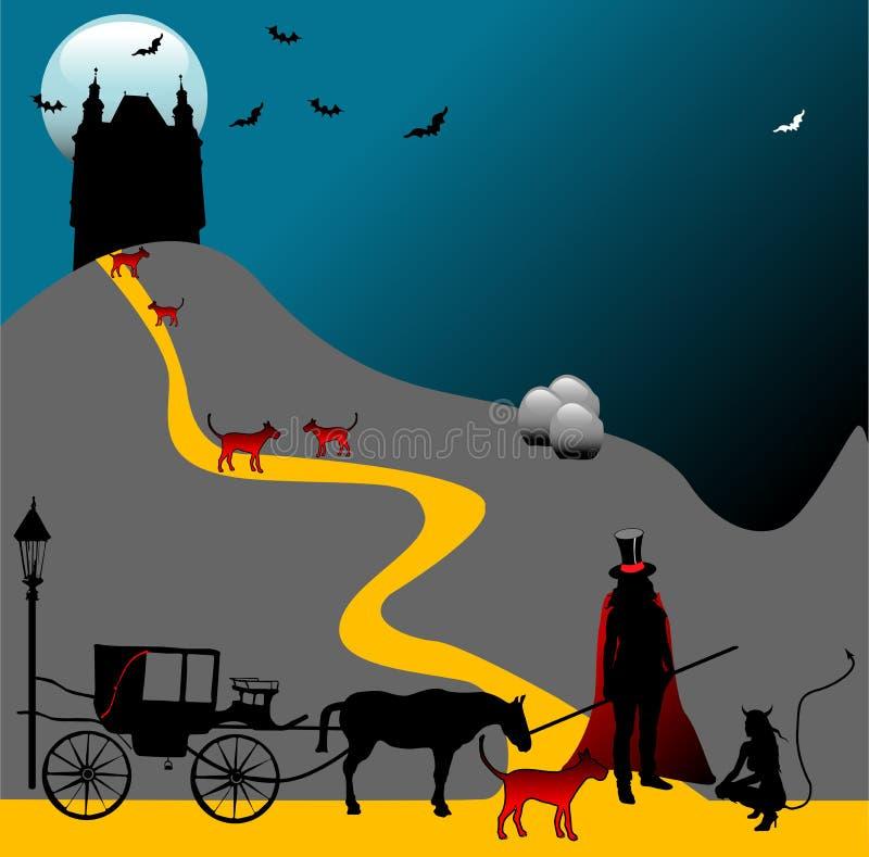 Maison de Dracula illustration libre de droits