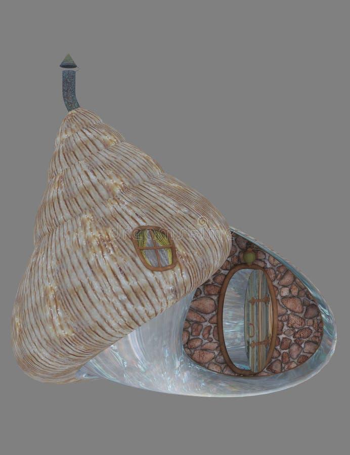 Maison de fée de Shell illustration de vecteur