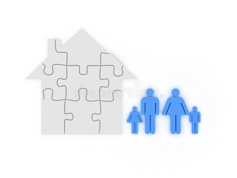 Maison de famille photo libre de droits