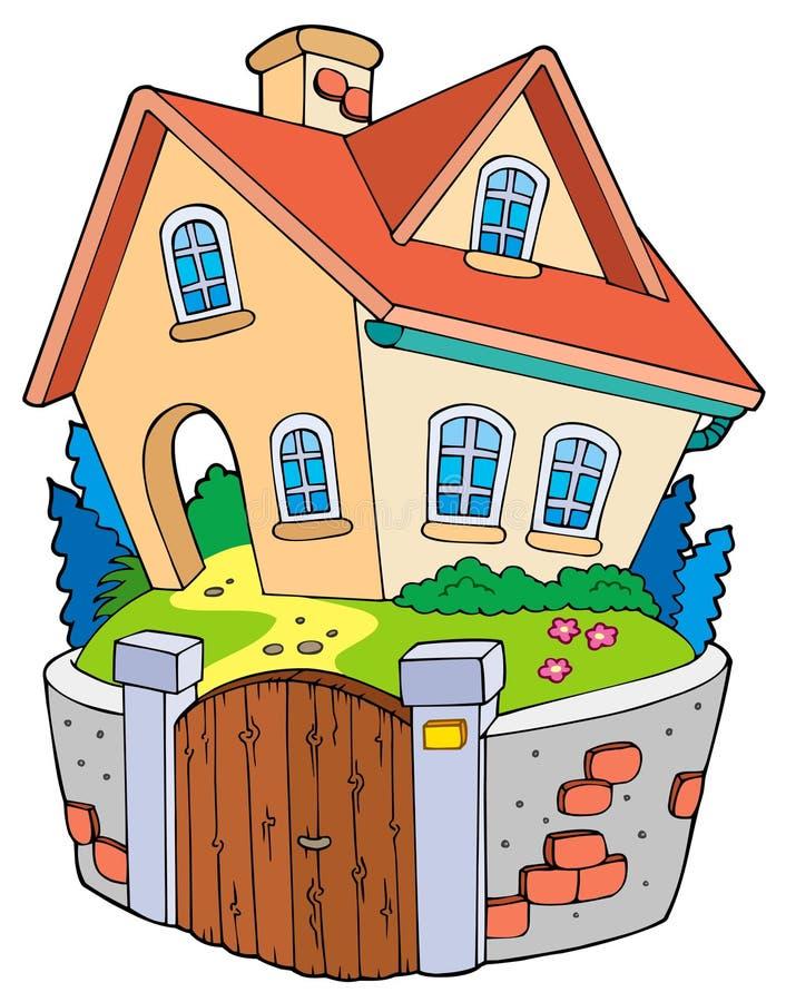 Maison de famille de dessin animé illustration stock